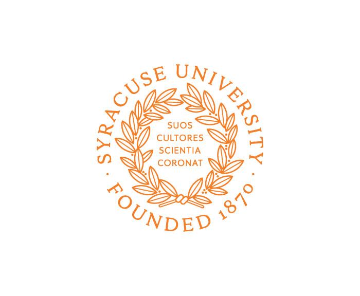 Syracuse University Seal in Orange