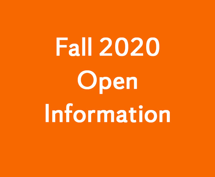 Fall 2020 Open Information